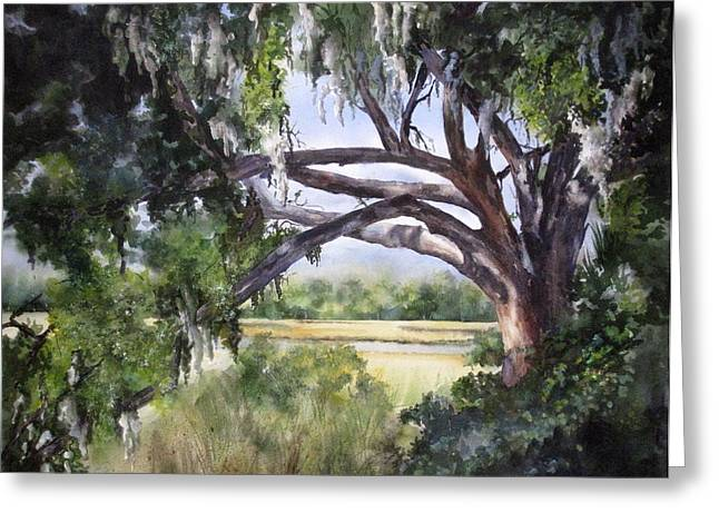 Sunlit Marsh Greeting Card by Mary McCullah