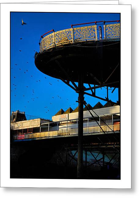 Old Relics Greeting Cards - Sunlit Pier Greeting Card by Mal Bray