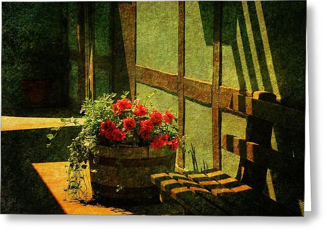 Sunny Corner Greeting Card by Susanne Van Hulst