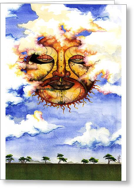African-american Mixed Media Greeting Cards - Sunny Day Greeting Card by Anthony Burks Sr