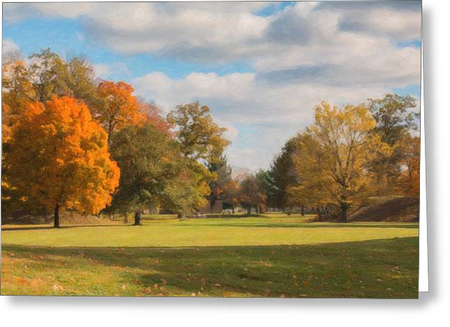 Sunny Day In Autumn Greeting Card by Tom Mc Nemar
