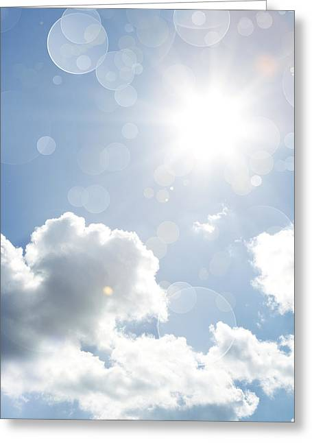 Solar Flare Greeting Cards - Sunny day Greeting Card by Les Cunliffe