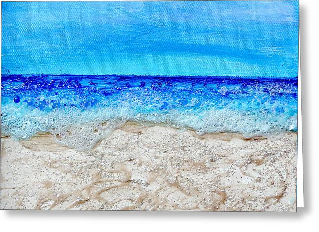 Ocean Shore Mixed Media Greeting Cards - Sunny Day Seascape Greeting Card by Regina Valluzzi