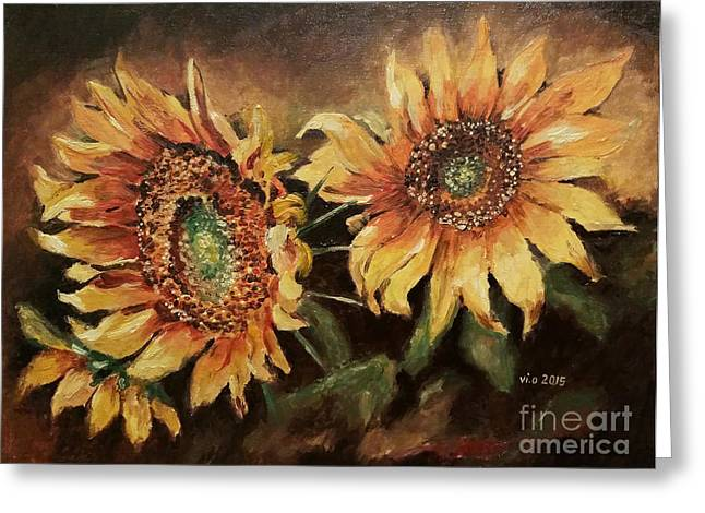 Fineartamerica Drawings Greeting Cards - Sunny days Greeting Card by Violeta Oprea