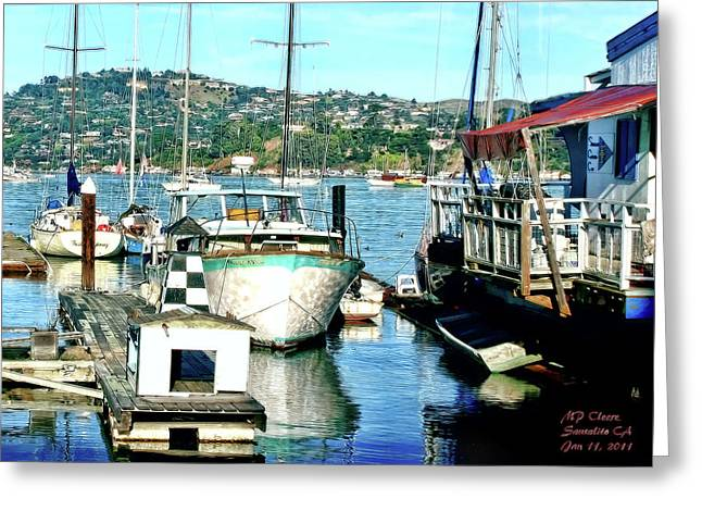 Sausalito Digital Greeting Cards - Sunny Sausalito Greeting Card by Michael Cleere