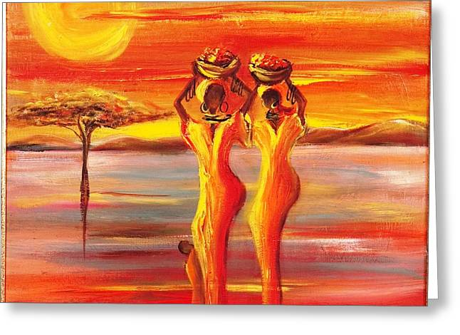 Ethnical Greeting Cards - Sunny South Africa2 Greeting Card by Marietjie Henning