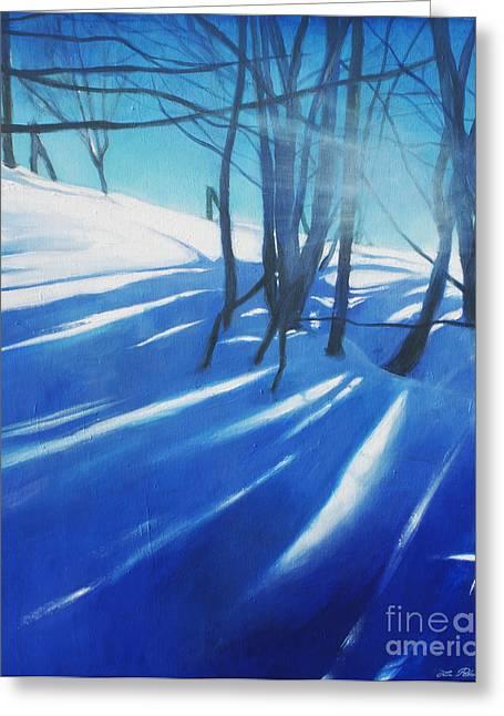 Sunny Traintrip To Hamar Greeting Card by Lin Petershagen