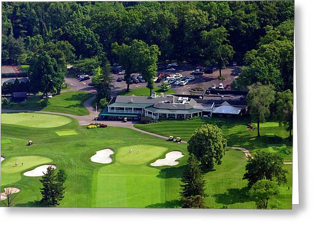 Golf Aerials Greeting Cards - Sunnybrook Golf Club 398 Stenton Avenue Plymouth Meeting PA 19462 1243 Greeting Card by Duncan Pearson