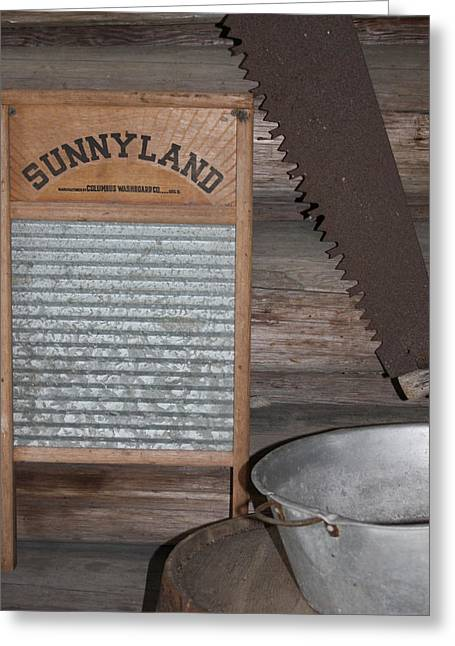 Saw Greeting Cards - Sunnyland Greeting Card by Dana  Oliver