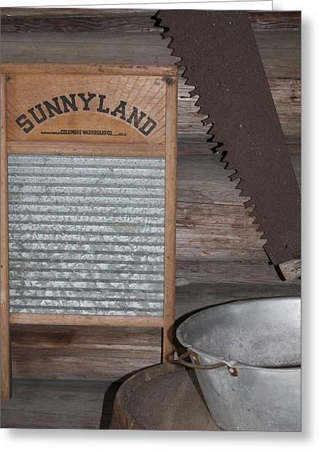 Washboard Greeting Cards - Sunnyland Greeting Card by Dana  Oliver