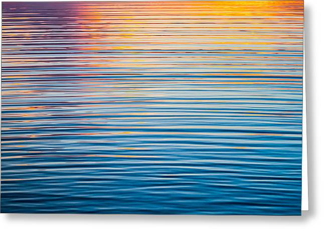 Sunset Abstract Greeting Cards - Sunrise Abstract On Calm Waters Greeting Card by Parker Cunningham