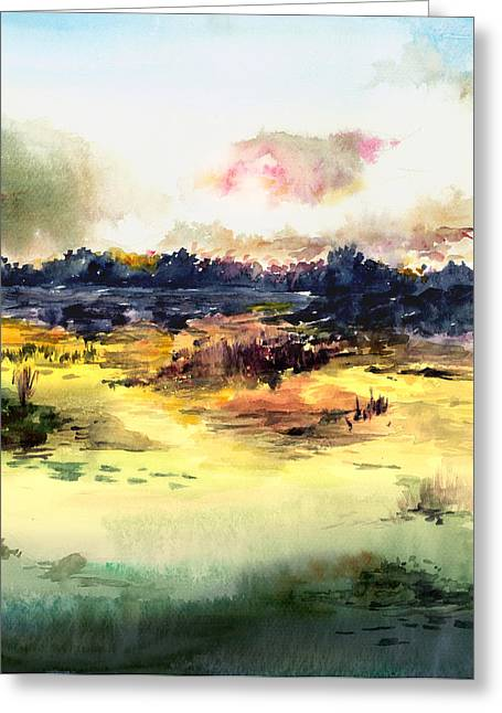 Anil Nene Greeting Cards - Sunrise Greeting Card by Anil Nene