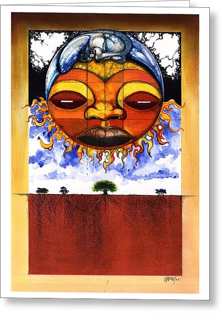 African-american Mixed Media Greeting Cards - Sunrise Greeting Card by Anthony Burks Sr