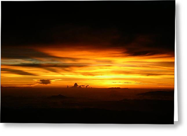 Aviation Photos Greeting Cards - Sunrise at 38k Over El Salvador Greeting Card by Strato  ThreeSIXTY