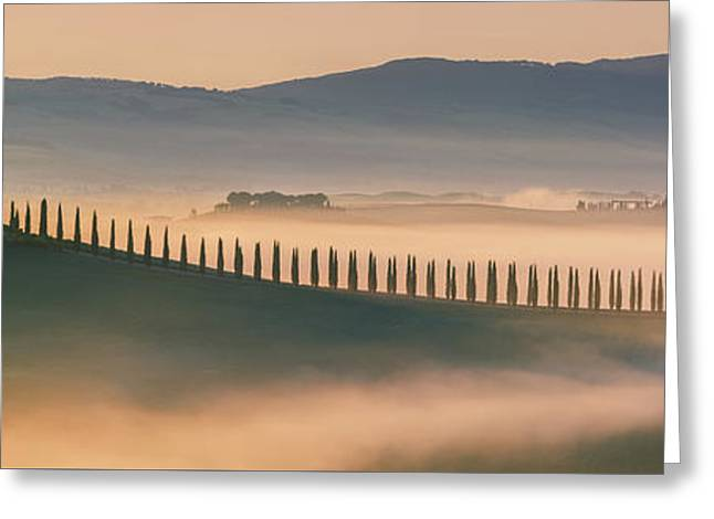 Sunrise At Agriturismo Poggio Covili Greeting Card by Henk Meijer Photography