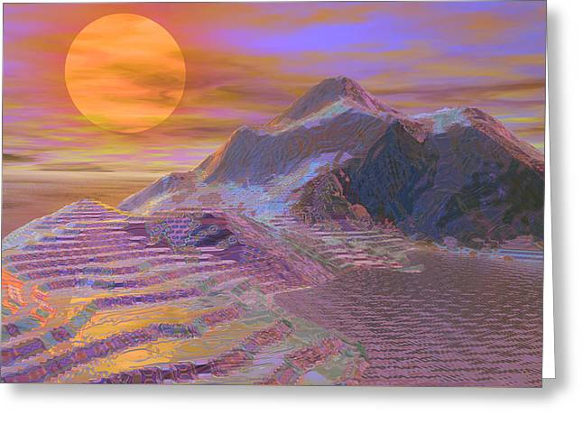 Visionary Artist Greeting Cards - Sunrise at Baashore Greeting Card by Bob  Eige