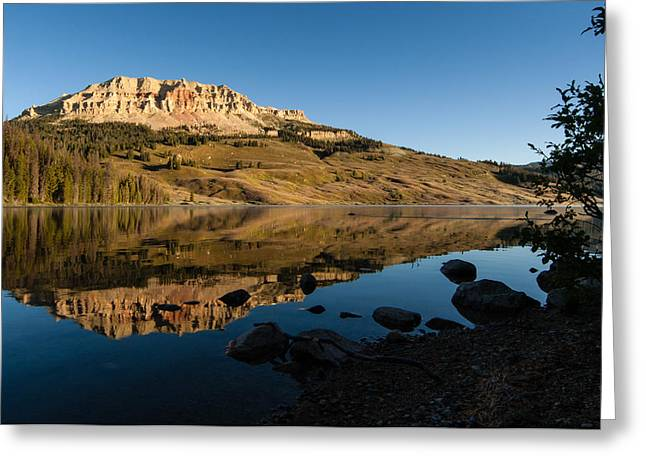 Favorite Color Blue Greeting Cards - Sunrise At Beartooth Lake  Greeting Card by Frank Staigl III