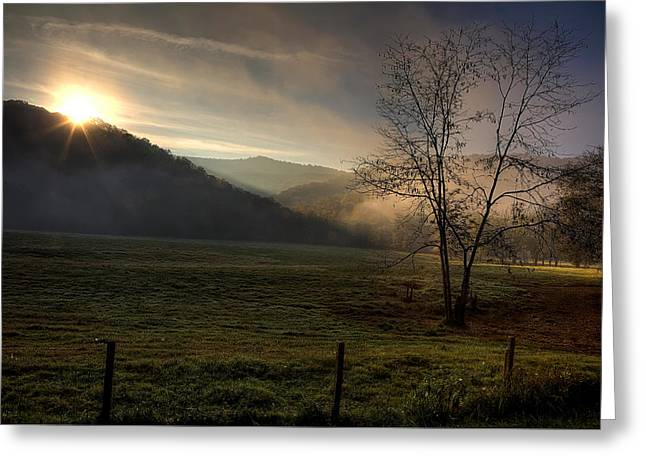 Boxley Valley Greeting Cards - Sunrise at Big Hollow Greeting Card by Michael Dougherty