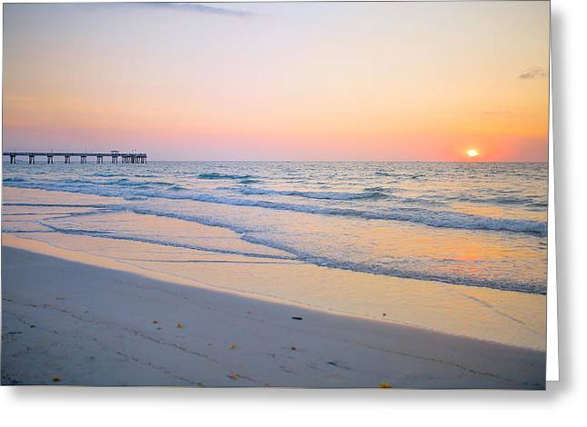 Usa Photographs Greeting Cards - Sunrise at Dania beach Greeting Card by Yuri Figuenick