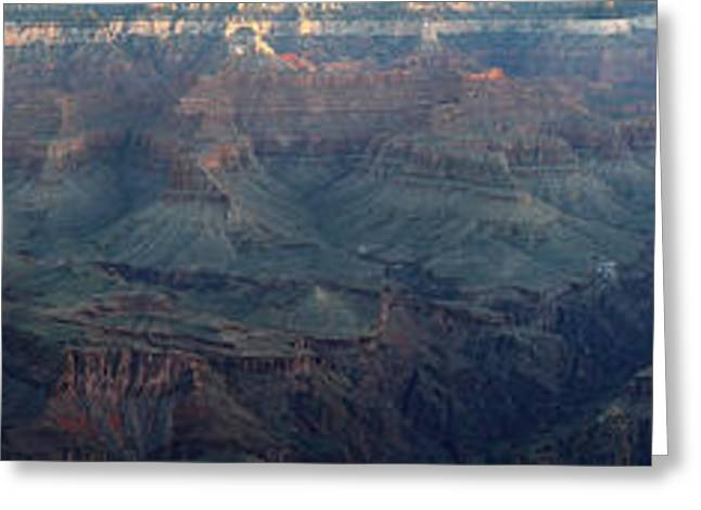 Healthy Greeting Cards - Sunrise at Grand Canyon Panorama Greeting Card by Pierre Leclerc Photography