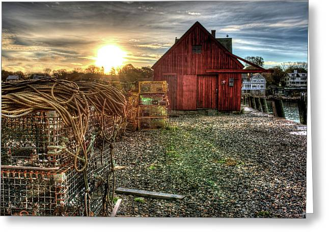 Sunrise At Motif #1 In Gloucester Ma Greeting Card by Toby McGuire