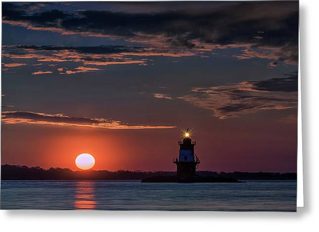 Sunrise At Orient Point Greeting Card by Rick Berk