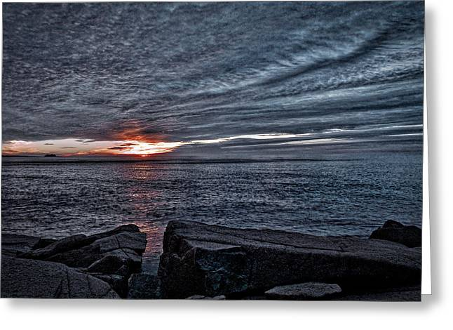 Reflecting Water Greeting Cards - Sunrise at Otter Cliffs #7 Greeting Card by Stuart Litoff