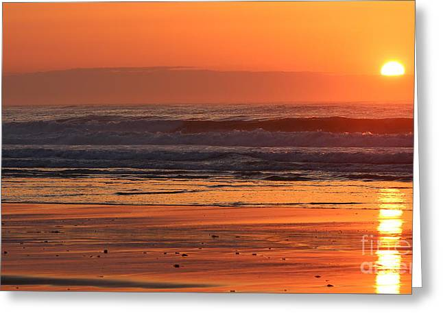 Sunrise At Rye Beach Greeting Card by Devin LaBrie
