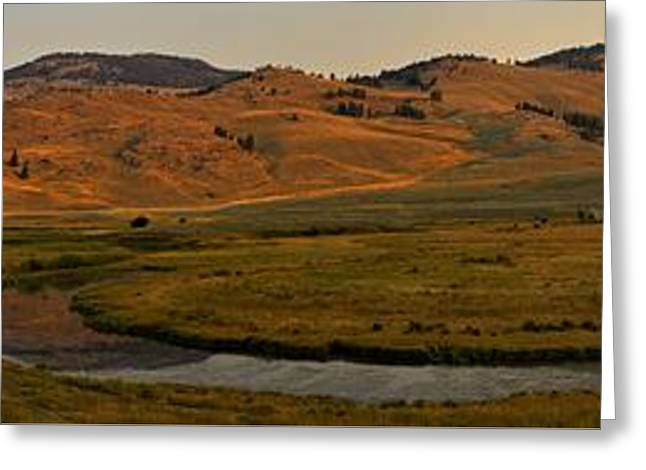 Mountain Valley Greeting Cards - Sunrise At Slough Creek Greeting Card by Adam Jewell