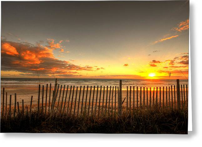 Flagler Greeting Cards - Sunrise At Snack Jacks Greeting Card by Andrew Armstrong  -  Mad Lab Images