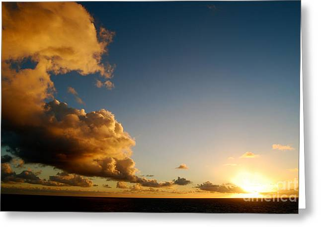 Thin Greeting Cards - Sunrise at the Caribbean  Greeting Card by Cesar Marino