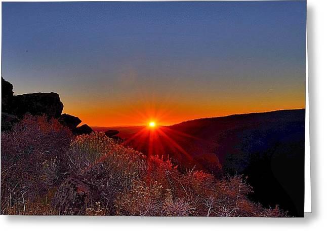 Jansson Greeting Cards - Sunrise at Verdi Peak Greeting Card by Maria Jansson