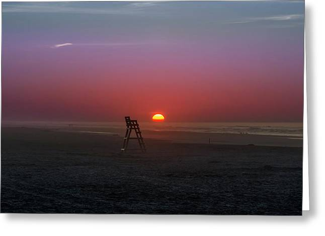 Sunrise At Wildwood New Jersey Greeting Card by Bill Cannon