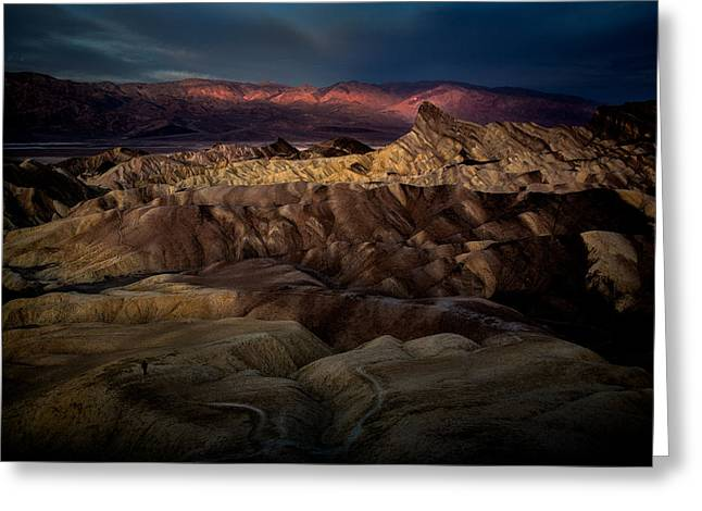 Points Pyrography Greeting Cards - Sunrise at Zabiskie Point Greeting Card by Rick Strobaugh