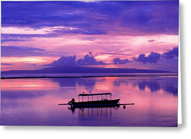 Sunrise Balisanur Indonesia Greeting Card by Panoramic Images