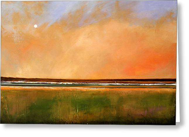 Sunrise Beach Greeting Card by Toni Grote