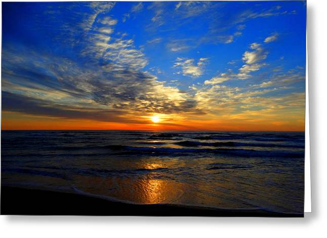 Aquatic Greeting Cards - Sunrise by the Sea Greeting Card by Dianne Cowen