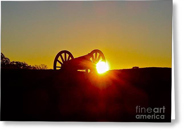 Sunrise Cannon Greeting Card by E Robert Dee