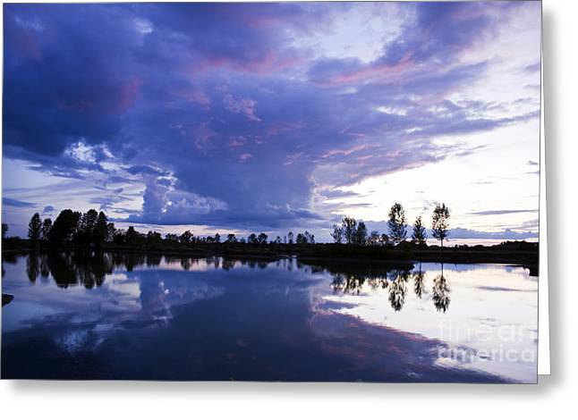 Mystical Landscape Greeting Cards - Sunset Greeting Card by Dan Radi