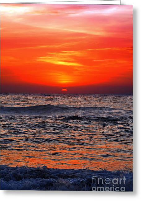 Beach Photography Greeting Cards - Sunrise Delight by Kaye Menner Greeting Card by Kaye Menner