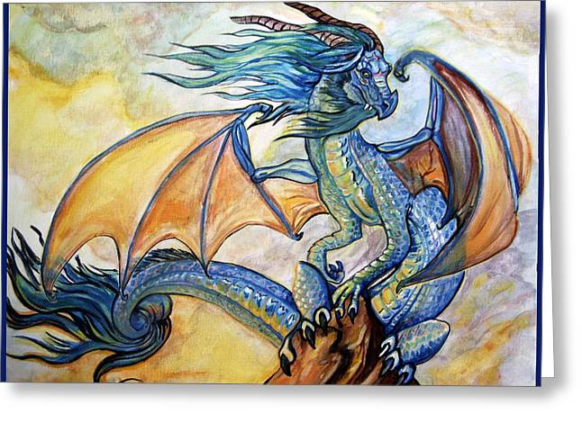 Jenn Cunningham Greeting Cards - Sunrise Dragon Greeting Card by Jenn Cunningham