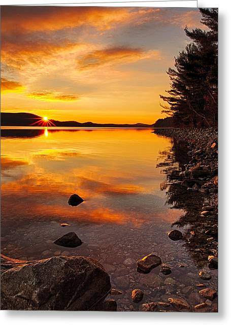 Sunrise From Old Enfield Road -quabbin Gate 5 Greeting Card by Stephen Gingold