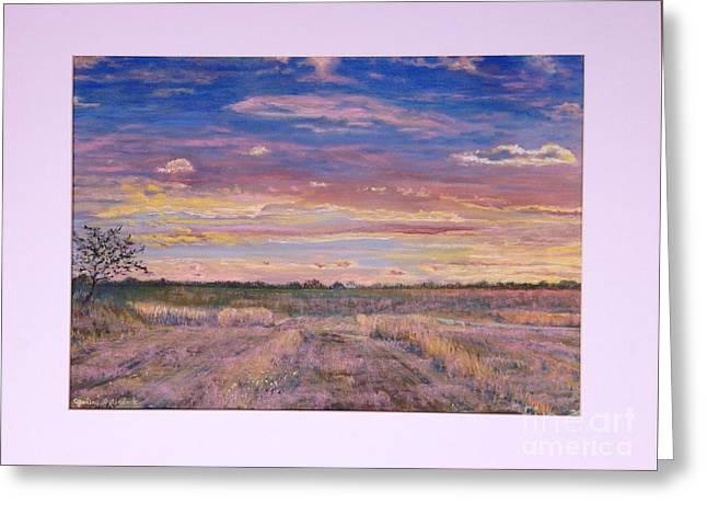 Field. Cloud Pastels Greeting Cards - Sunrise Greeting Card by Galina Melnik