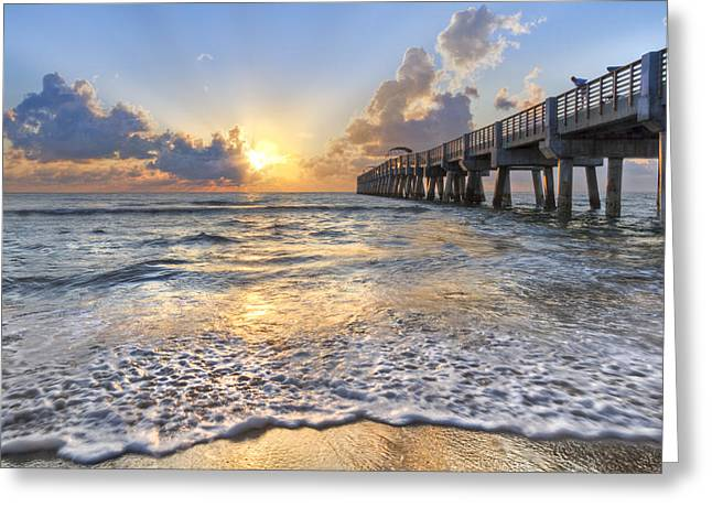 Recently Sold -  - Sanddunes Greeting Cards - Sunrise Glow Greeting Card by Debra and Dave Vanderlaan