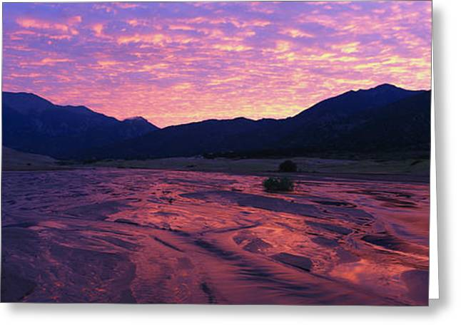 Sand Dunes National Park Greeting Cards - Sunrise Great Sand Dunes National Greeting Card by Panoramic Images