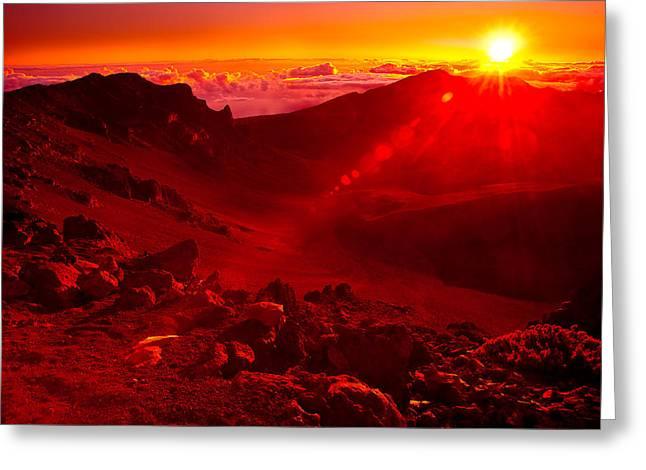 Sunrise Haleakala Greeting Card by Harry Spitz
