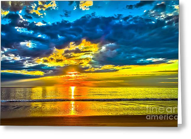 Overcast Day Greeting Cards - Sunrise-HDR Greeting Card by Claudia Mottram