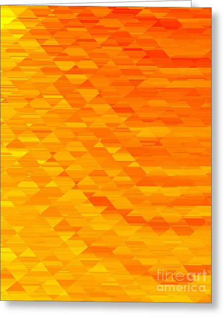 Metalic Greeting Cards - Sunrise in Abstract 01 Greeting Card by John Edwards