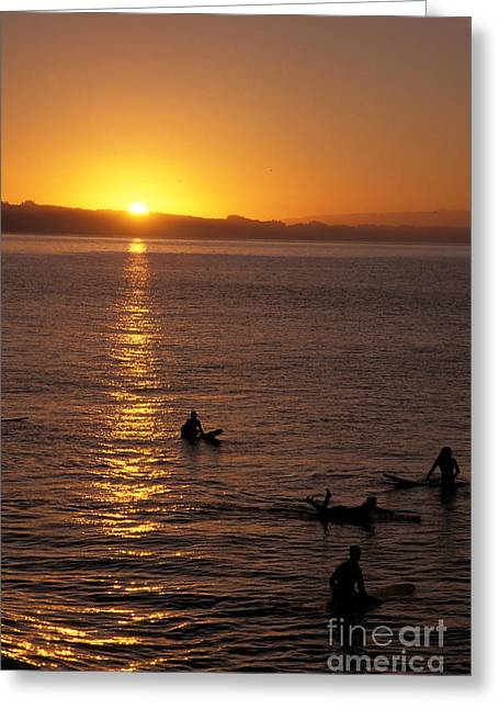 Santa Cruz Surfing Greeting Cards - Sunrise in Capitola Greeting Card by Stan and Anne Foster