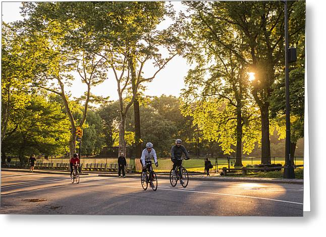Central Park West Greeting Cards - Sunrise in Central Park Greeting Card by Christian Heeb